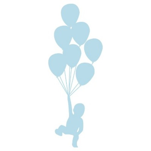 Balloons Wall Decal - Blue