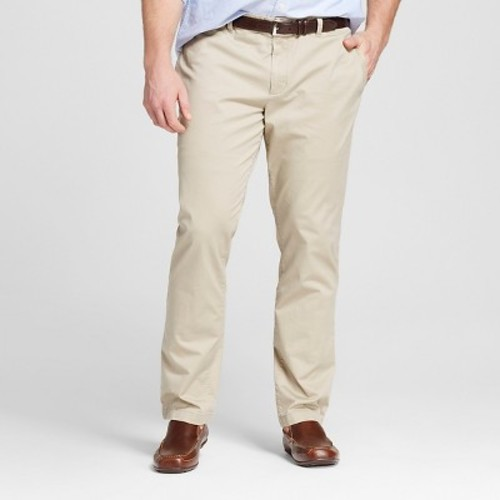 Men's Big & Tall Slim Straight Washed Chino Pants - Merona