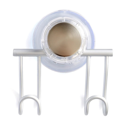 InterDesign Aluminum Suction Cup Bath Hook