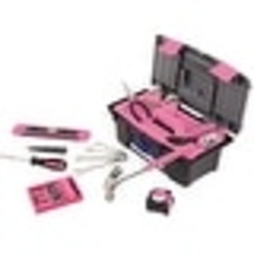 Apollo DT9773P Household Tool Kit With Tool Box, 53 Piece, Pink