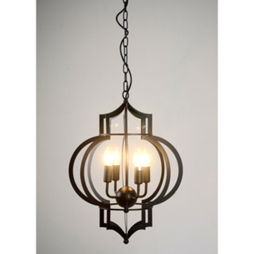 Justice Design Group Wire Glass 1-light Matte Black Pendant