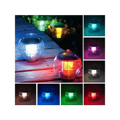 Solar Power Floating LED 7Colors Changing Pool Pond garden fountain Light Lamp
