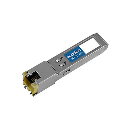 AddOn IBM 45W2813 Compatible TAA Compliant 10/100/1000Base-TX SFP Transceiver (Copper, 100m, RJ-45)