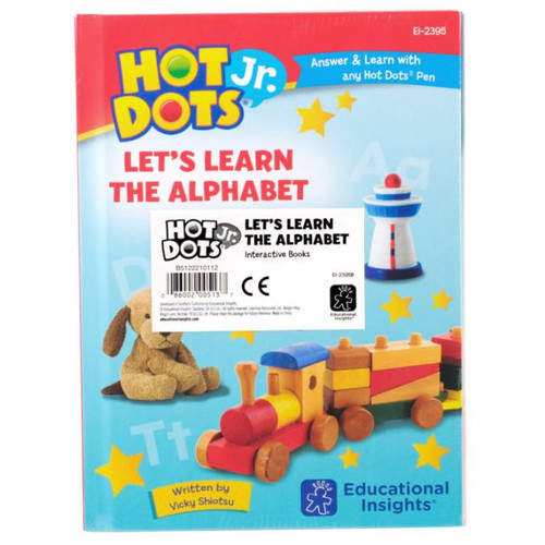Educational Insights Hot Dots Jr. Let's Learn the Alphabet Interactive Books, 5 Books