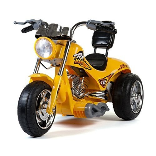 Red Hawk Motorcycle 12v - Yellow