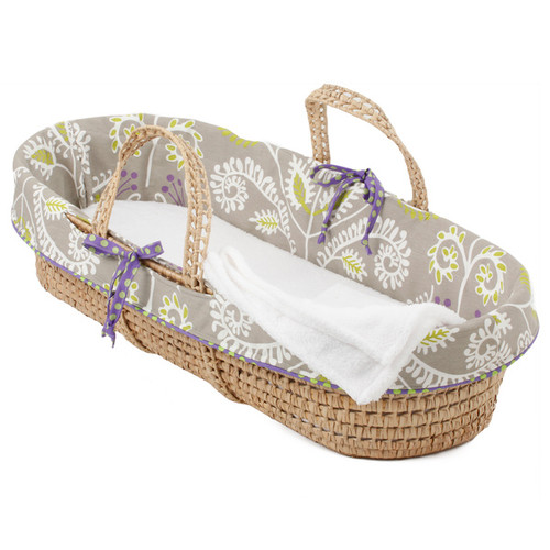 Cotton Tale Periwinkle Moses Basket