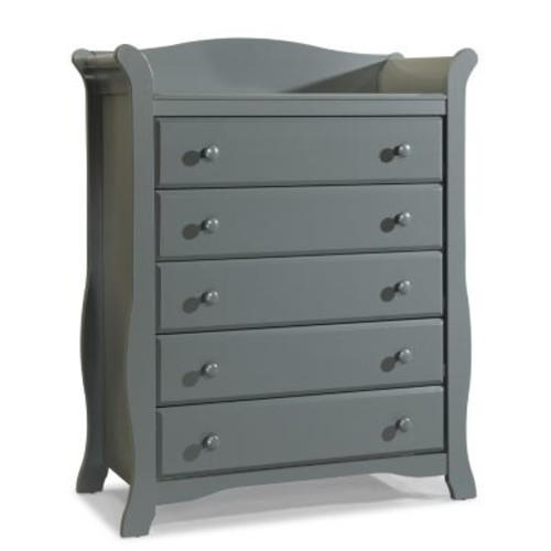 Stork Craft Avalon 5 Drawer Dresser - Gray