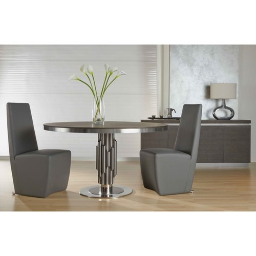Modern Life Allen Grey Faux Leather Dining Chair (Set of 2)