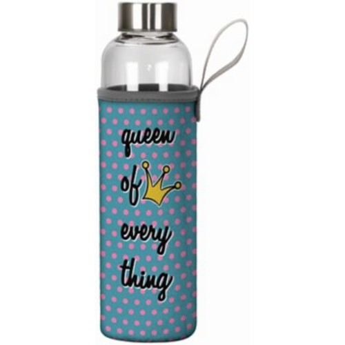 Spoontiques Queen of Everything 20oz Glass Bottle with Sleeve (19915)