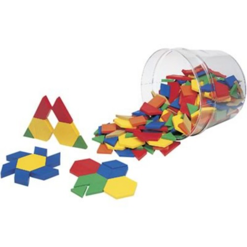 Pattern Blocks; Learning Resources Plastic