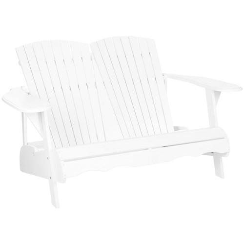 Outdoor Kingston Bench, White