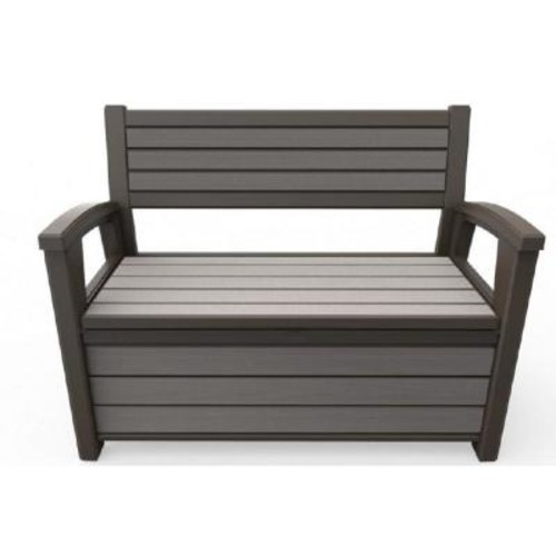 Keter WLF 60 Gal. Outdoor Garden Patio Deck Box Storage Bench