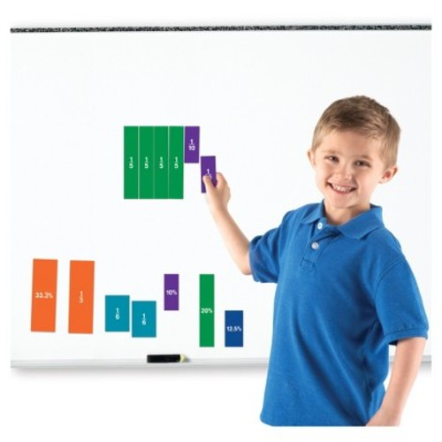 Learning Resources Double-Sided Magnetic Fraction Squares Set - 51 Piece