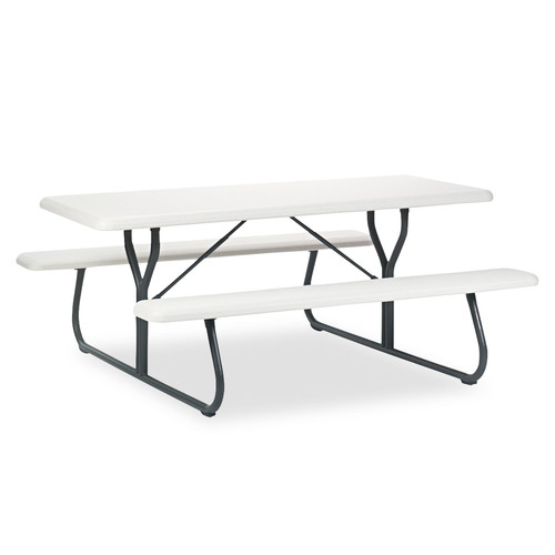 Iceberg ICE65923 IndestrucTables Too 1200 Series Resin Picnic Table, 72w x 30d, Platinum/Gray