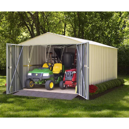 Arrow Commander Hot Dipped Galvanized Steel Shed Utility Building 10' feet Wide x 15' feet Long