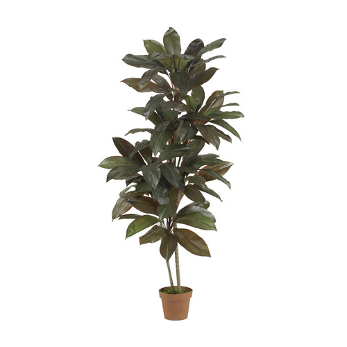 Nearly Natural Home Accent 5' Cordyline Silk Plant Real Touch Green