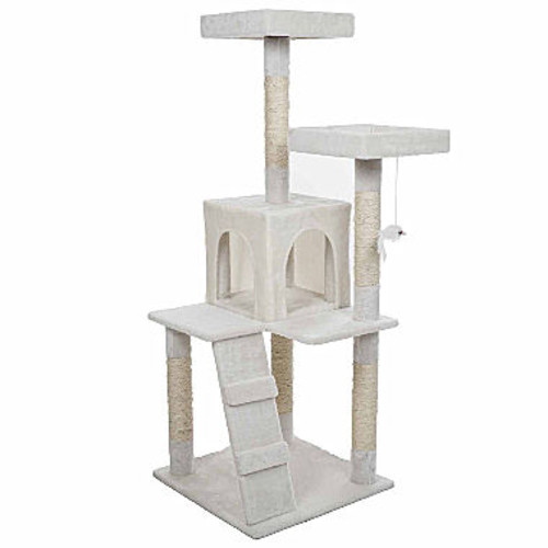 Petmaker 4 ft. Penthouse Sleep and Play Cat Tree