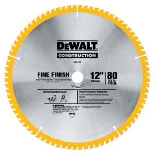 DEWALT 12 in. Miter Saw Blade 32-Teeth and 80-Teeth (2-Pack)