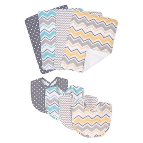 Trend Lab 8-Piece Zigzag Baby Bib and Burp Cloth Set