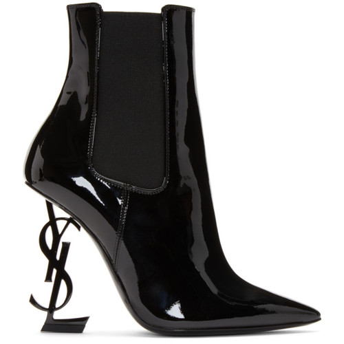 Black Patent Opyum Chelsea Boots