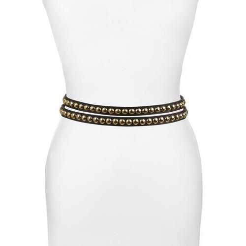 BURBERRY Studded Leather Wrap Belt