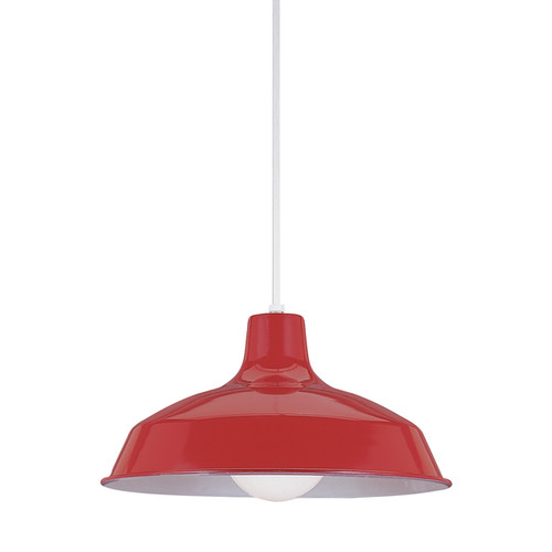 Sea Gull Painted Shade Pendants LED Red Pendant