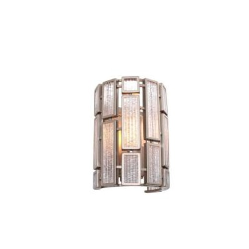 Varaluz Harlowe 1-Light New Bronze Sconce with Textured Ice Glass