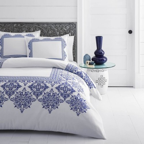 White Cora Duvet Cover Set - Aazlea Skye