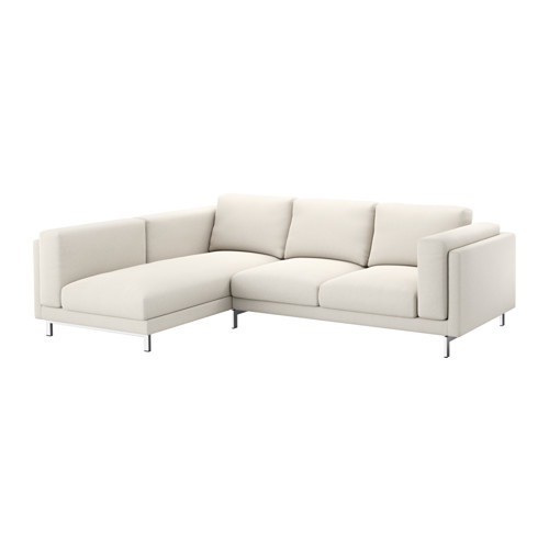 NOCKEBY Cover for sofa, with chaise, left left, Tallmyra white/black [cover : left/Tallmyra white/black]