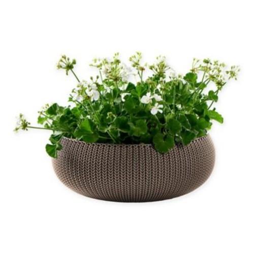 Keter Cozies Knit Round Resin Indoor/Outdoor Planter
