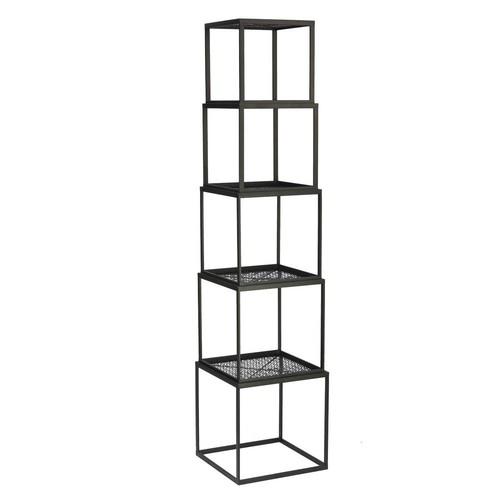 Black Stackable Etagere Open Bookcase