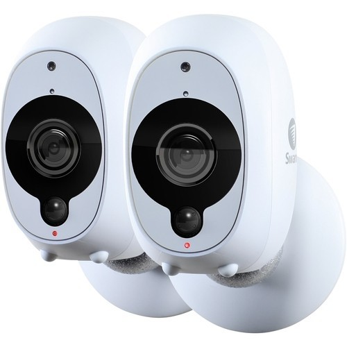 Swann - Smart Indoor/Outdoor 1080p Full HD Wi-Fi Wire-Free Security Camera (2-Pack) - White
