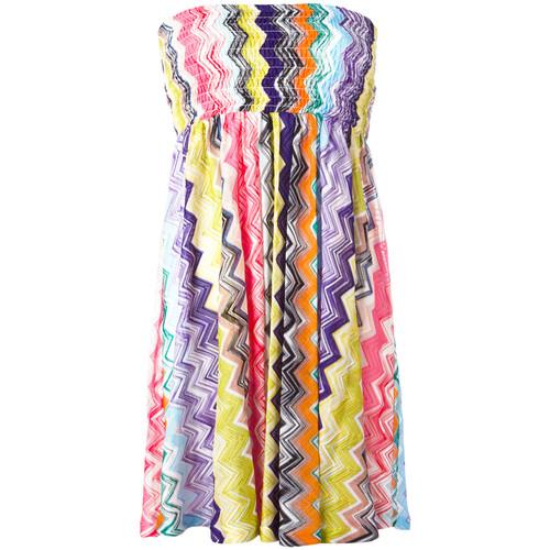 MISSONI Strapless Zigzag Dress