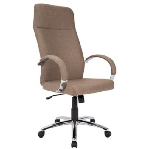 Lumisource Ambassador Contemporary Fabric Office Chair, Brown (OFC-AC-AMB BN)