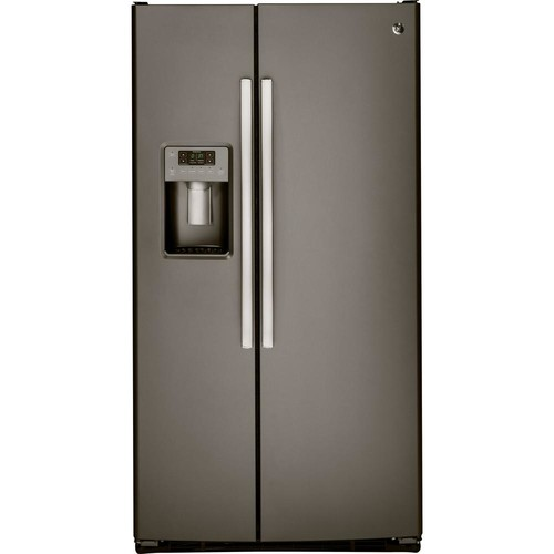 GE 32.75 in. W 23.2 cu. ft. Side by Side Refrigerator in Slate