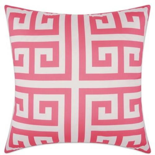 Mina Victory Greek Key Geometric Square Outdoor Pillow