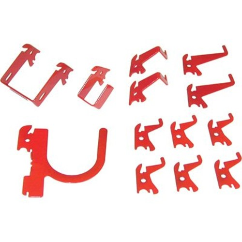 Wall Control Slotted Pegboard Industrial Hook Assortment Kit - 13-Pc., Red, M...