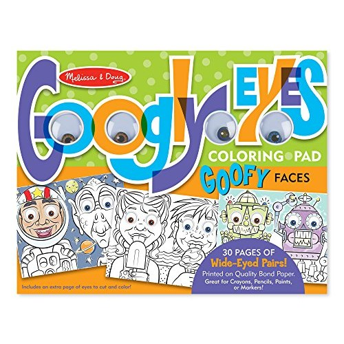 Melissa & Doug Wacky Faces - Googly Eyes Coloring Pad Toy