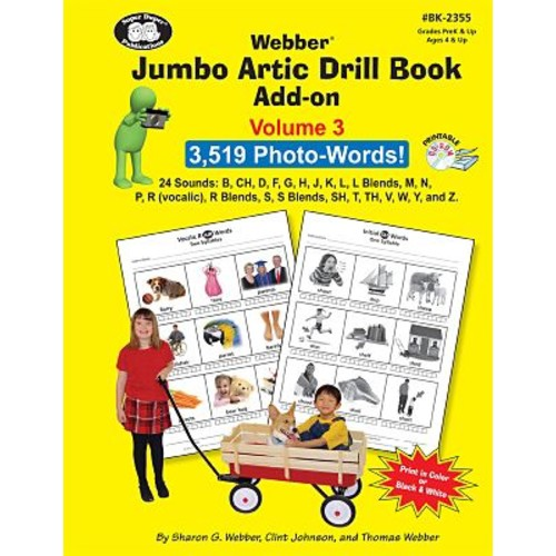 Super Duper Jumbo Artic Drill Book PHOTO-WORDS Add-On Book and Printable CD-ROM