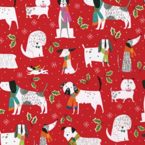 Christmas Canines Wrapping Paper