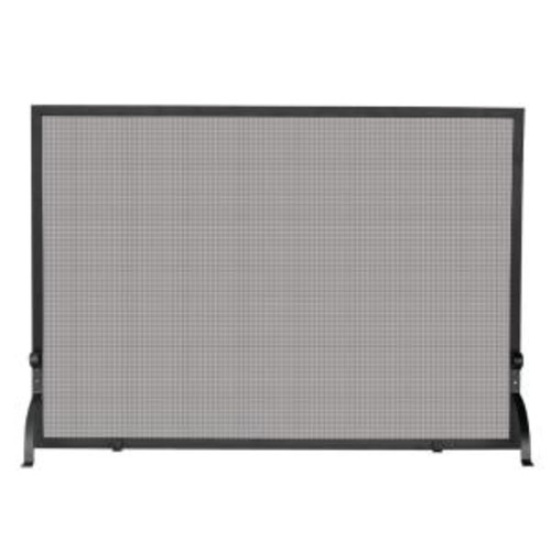 UniFlame Olde World Iron Medium Single-Panel Fireplace Screen