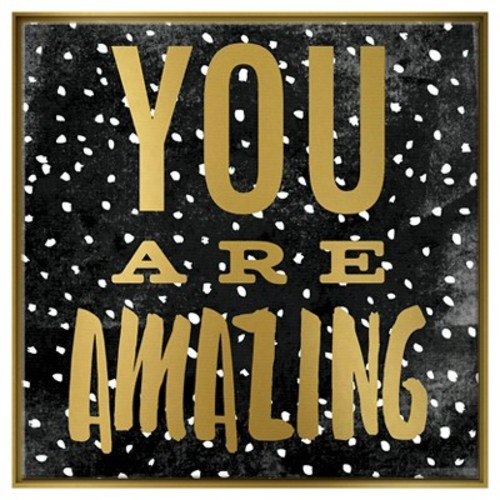 You Are Amazing Framed Canvas - Pillowfort