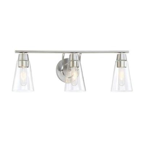 Designers Fountain Echo 3-Light Satin Platinum Bath Bar Light