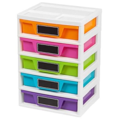 IRIS 5-Drawer Storage and Organizer Chests (Set of 2)