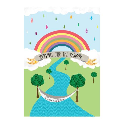 Somewhere over the Rainbow by Stephanie Bertenshaw Graphic Art