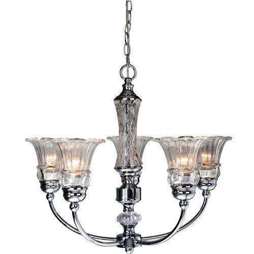 Elegant Designs 5-light Glass Ceiling Glacier Petal Chandelier