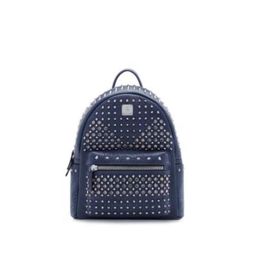 MCM Embellished Leather Backpack