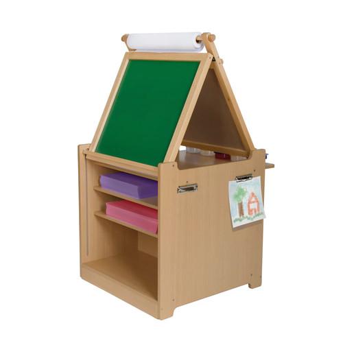 Guidecraft Desk-to-Easel Art Cart