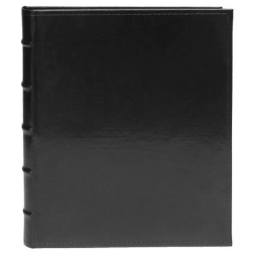 Magnetic Faux Leather Black Photo Album - 80 Pages