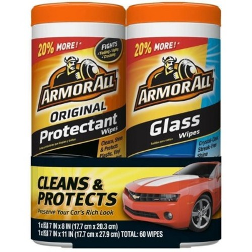 Armor All Original Protectant and Glass Wipes 2-pk.